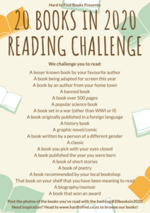 20 BOOKS IN 2020 READING CHALLENGE!